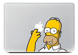 Homer Simpsons Laptop Sticker Vinyl Decal For Apple Macbook Pro Air 13 15 Inch Color Homer Simpsons For Macbook Laptop Skin Decal Water Transfer Paper Decaldecal Tile Aliexpress
