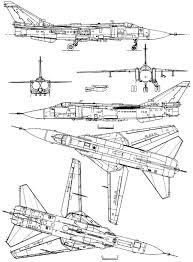 Blueprints Modern Airplanes Sukhoi Sukhoi Su 24 Fencer