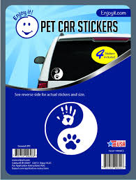Yin Yang Hand And Paw Car Stickers Enjoy It