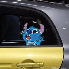 Cartoon Stitch Hit Climb Glass Window Windshield Random Body Decals Car Stickers