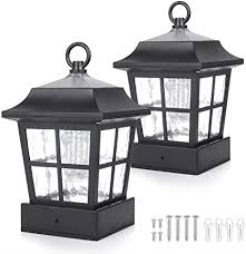 Amazon Com Solar Fence Post Light Solar Deck Light Solar Post Cap Light Solar Patio Light 15 Lumens St130qfx2 Fit For 3 7x3 7 Regular Fence Posts Or With Included Adaptor Fit For Bigger Flat