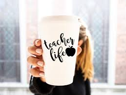 Teacher Life Vinyl Decal Teacher Tumbler Decal Teacher Etsy