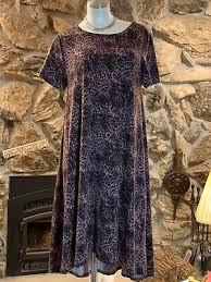 lularoe carly m dress small print