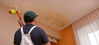 water stains on a popcorn ceiling