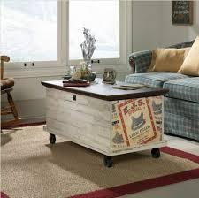 farmhouse coffee table rolling storage
