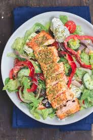 Healthy Greek-Style Salmon Salad