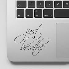 Wall Stickers Custom Just Breathe Yoga Decal New For Laptop Car Macbook Ebay