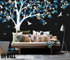 Large Maple Tree Vinyl Decal Nursery Vinyl Wall Decal Tree Etsy
