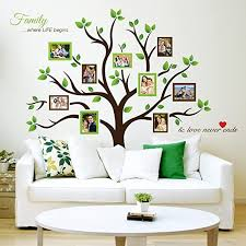 Amazon Com Timber Artbox Large Family Tree Photo Frames Wall Decal The Sweetest Highlight Of Your Home