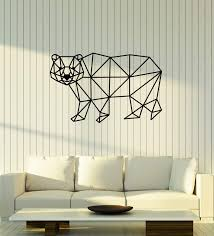 Amazon Com Wallstickers4ever Vinyl Wall Decal Polygonal Polar Bear Animal Room Decoration Stickers Mural Large Decor Ig5393 Home Kitchen