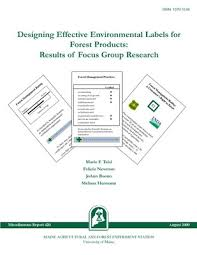 """MR420: Designing Effective Environmental Labels for Forest Products: R . .  ."""" by Mario F. Teisl, Felicia Newman et al."""