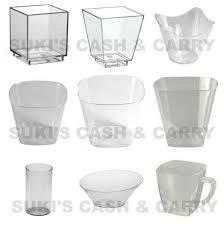 plastic mini tall square dessert cups