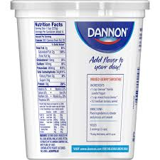 dannon greek yogurt nutrition label