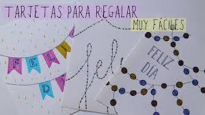 Tarjetas De Felicitacion Muy Faciles Manualidades Para Ninos