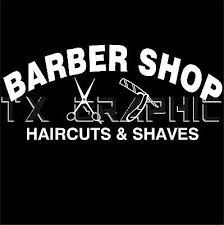 Barber Shop Sign Haircuts Shaves Vinyl Decal Business Sign Window
