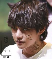 taehyung fanart beautiful and paint