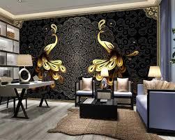 Beibehang الأوروبية الفاخرة الجميلة ورق حائط للمنزل الذهب الأسود