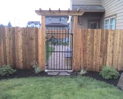 Ornamental Arbor And Metal Gate Bend Fencing Cedar Chain Link Residential Commercial