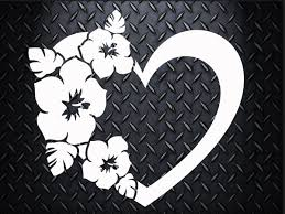 Flower Heart Decal Choose Your Size Car Decal Laptop Decal Mug Decal Tumbler Decal Cup Decal Phone Decal Heart Decals Flower Heart Cup Decal