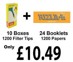 1200 Rizla Liquirizia Cigaretterolling Cartine + Filtri Swan extra ...