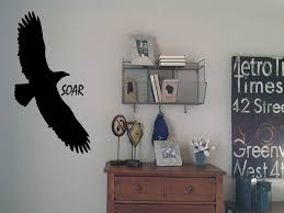 Eagle With Word Soar Wall Decal Touch Of Beauty Designs Custom Wall Decals