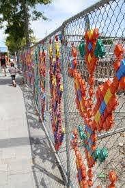 Chainlink Fence Ideas 3 Fence Art Fence Weaving Fence Decor