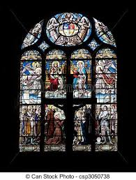 stained glass window in eglise saint