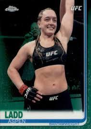 Amazon.com: MMA UFC 2019 Topps UFC Chrome Green Refractor #31 Aspen Ladd  #31 Bantamweight NM Near Mint 87/99: Collectibles & Fine Art