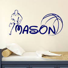 Personalized Name Wall Decal Sport Decals Basketball Boy Room Nursery Decor Dr71 Ebay
