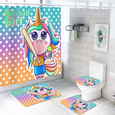 unicorn rainbow bathroom set think