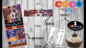 Ideas Para Fiesta De Coco Etiquetas Invitaciones Toppers