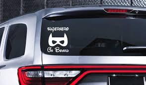 Superhero On Board Car Decal Superhero Decal Baby On Board Etsy