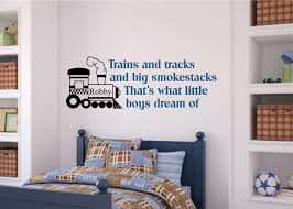 Trains And Tracks Includes Name Boy Room Decor Vinyl Decal Wall Stickers Letters