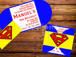 Invitacion Superman Hecha A Mano Personalizada Invitaciones