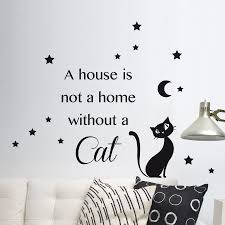 Wallpops Home Decor Line Cat Silhouette Wall Decal Cat Wall Wall Decals Cat Silhouette