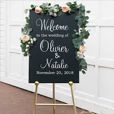 Personalised Wedding Welcome Sign Decal Sticker Customized Wedding Reception Vinyl Removable Waterproof Welcome Sign Decal Party Direction Signs Aliexpress