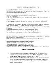 guide to writing a reaction paper with