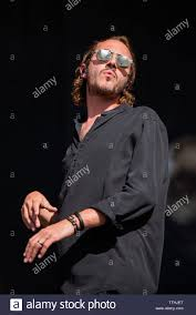 Tom Smith, singer of the English band Editors, performing live on stage at  the Firenze Rocks Festival 2019, opening for The Cure Stock Photo - Alamy