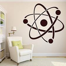 Amazon Com Wall Stickers Vinyl Decal Atom Molecule Chemistry Symbol Structure Core N131 Xl 45 In By 50 In Home Kitchen