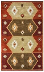 tribal totem pattern wool area rug