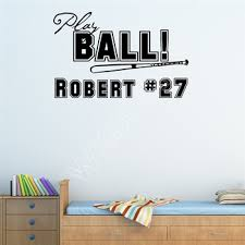 Baseball Wall Decals Shop For High Quality Baseball Wall Decals Free Worldwide Shipping