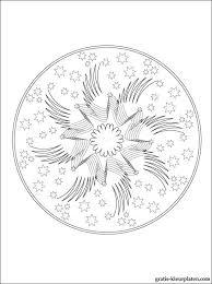 Mandala Met Sterren Voor Om Te Kleuren Gratis Kleurplaten