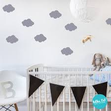 Peel And Stick Puff Cloud Wall Decals Long Life Apartment Etsy