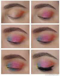 colorful festival makeup tutorial