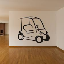 Simple Design Golf Cart Wall Sticker Living Room Art Vinyl Removable Home Decor Wall Decal Simple Home Decor Olivia Decor Decor For Your Home And Office
