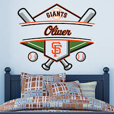 San Francisco Giants Personalized Name Wall Decal Shop Fathead For Wall Art Decor Cubs Room Baseball Bedroom Name Wall Decals