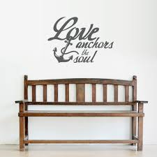 Love Anchors The Soul Wall Quote Decal Wallums