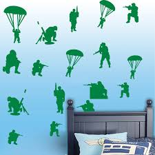 18pcs Solider Army Wall Decal Boy Room Kids Room Military War Solider Army Gun Weapon Wall Sticker Bedroom Playroom Vinyl Art Wall Stickers Aliexpress
