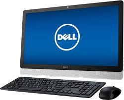 """Best Buy: Dell Inspiron 23.8"""" Touch-Screen All-In-One AMD A8-Series 8GB  Memory 1TB Hard Drive Black/White I3455-10041WHT"""