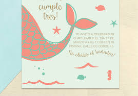 Yes I Do Shop Product Invitacion Sirena Con Texto Editado Por Ti